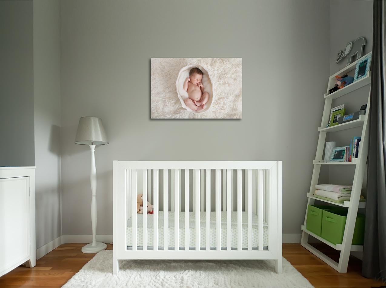toile photo dans une chambre de bébé photographe caen