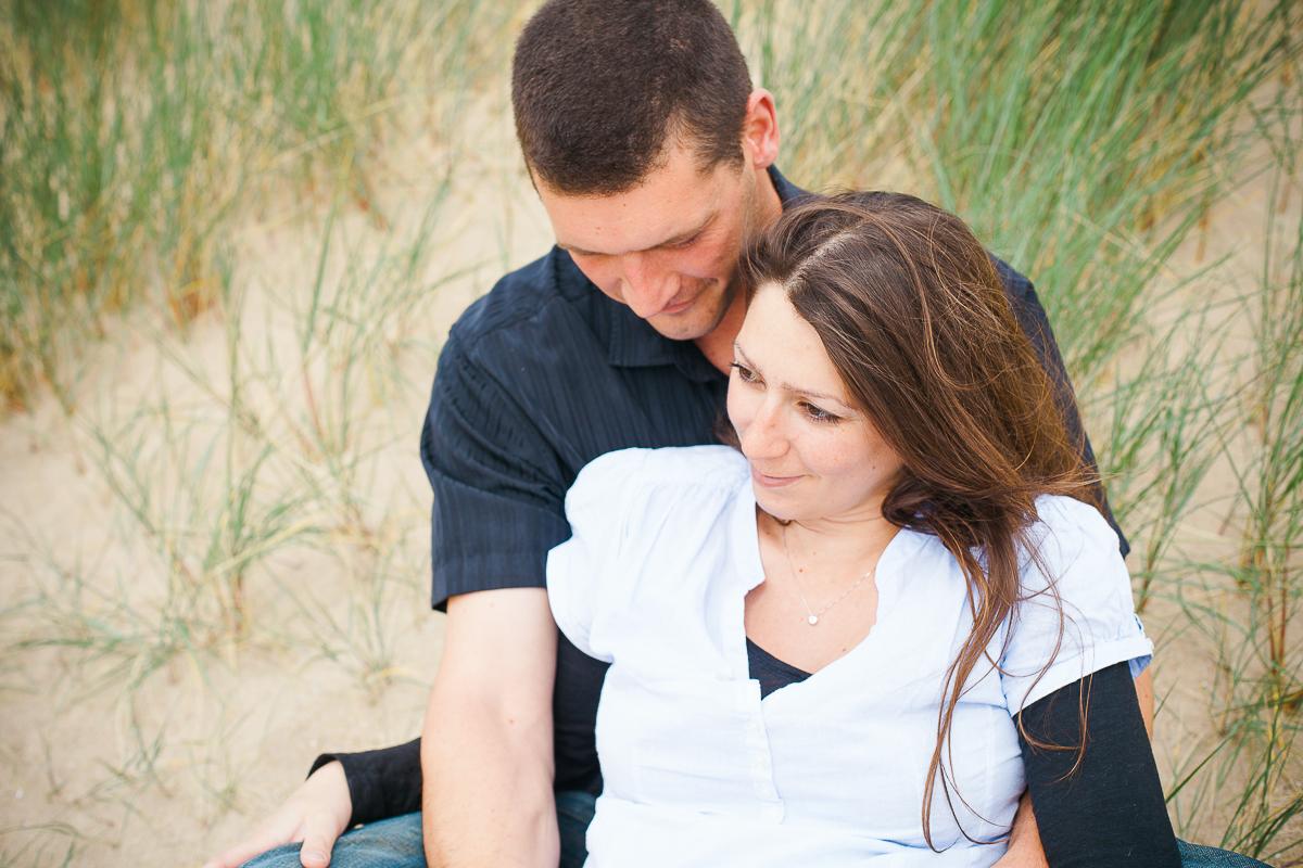 photographe grossesse cabourg sur la plage