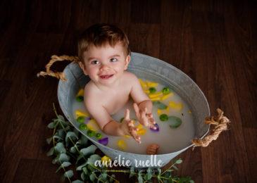Séance photo bain de lait en studioCaen