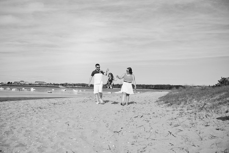 Séance photo famille Caen Plage